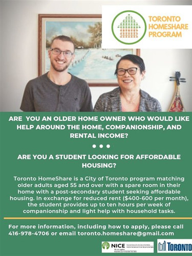 Toronto HomeShare Program