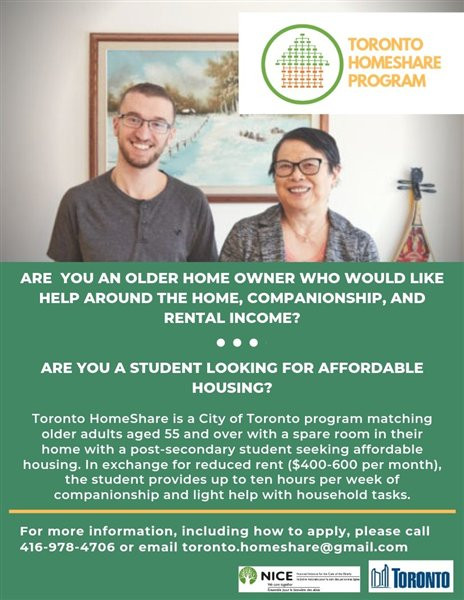 Toronto HomeShare Program