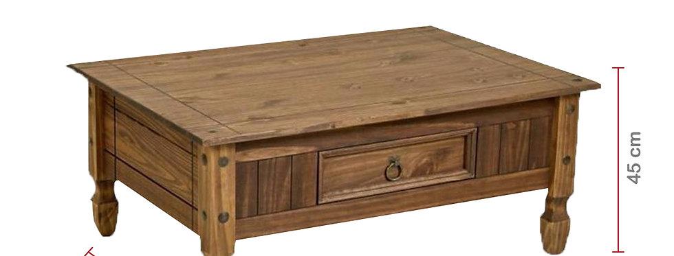 mesa de centro pino macizo modelo mexicano