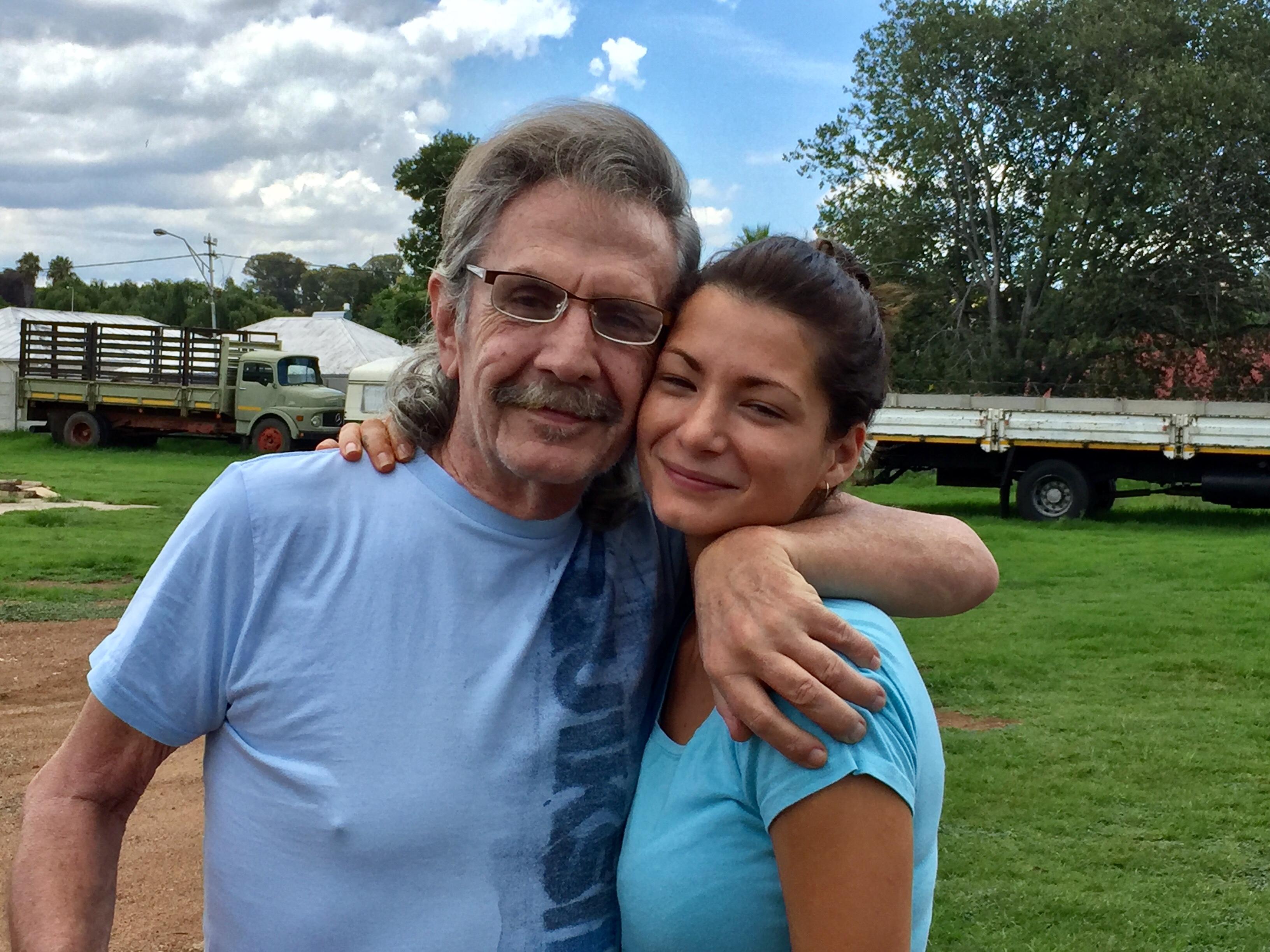 Ernest with granddaughter Jade