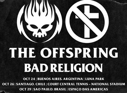 The Offspring e Bad Religion se apresentam no Brasil em outubro
