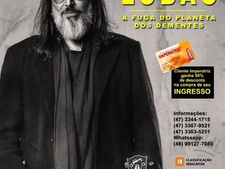 Lobão passa por Santa Catarina com show de voz e violão