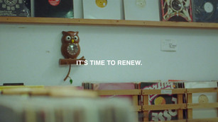 It's time to renew series graphic