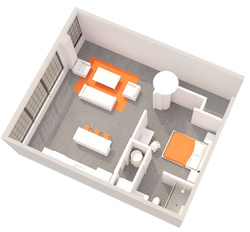 1 BR Floorplan A