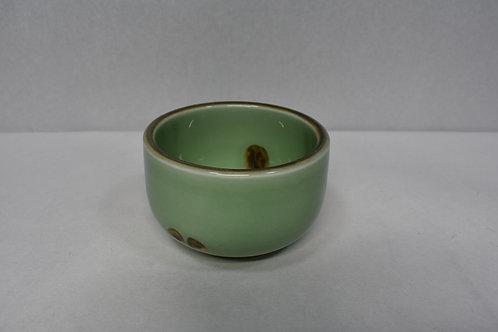 グリーン茶点紋 小鉢