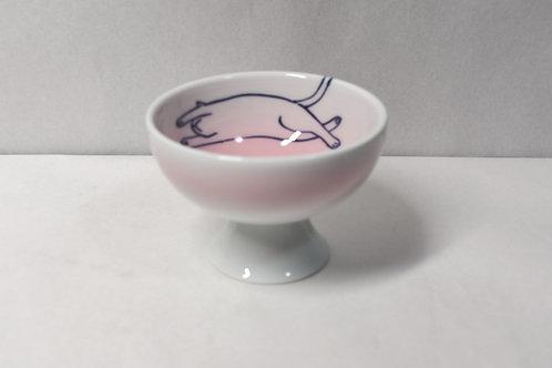 ピンクのびねこ ネコ用食器