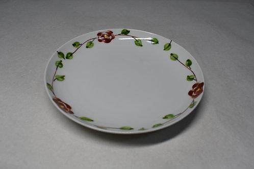 錦バラ絵 17㎝皿