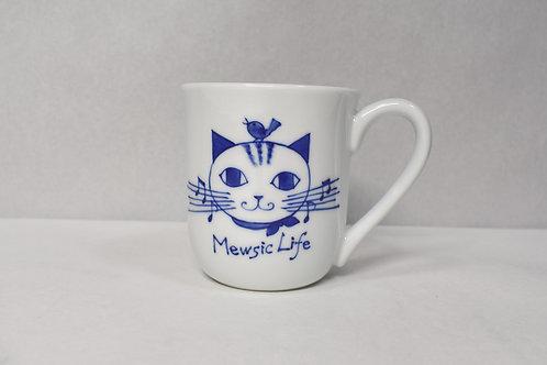 染付Mewsic Life マグカップ