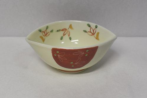 錦カスリ草花 2方ナブリ小鉢