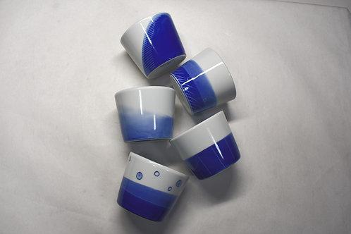 染付新ブルー ソバ猪口5個セット