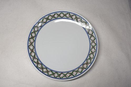 染錦葉紋 28㎝皿
