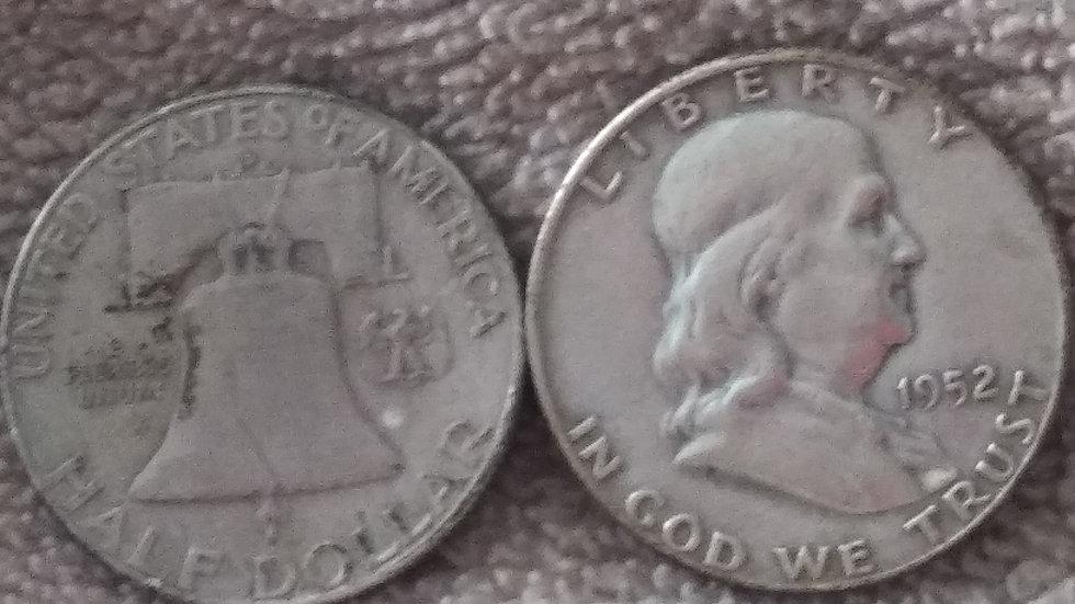 $1 fv Benjamin Franklin half dollar