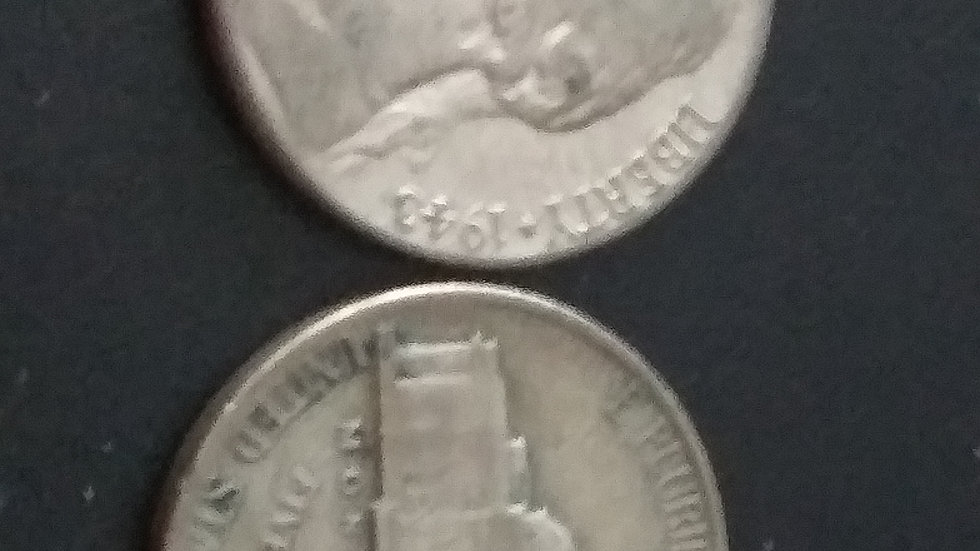 $1 FV silver war nickels