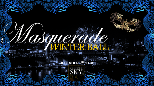 Masquerade Winter Ball at London Sky Bar