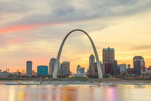 City of St. Louis skyline. Image of St.