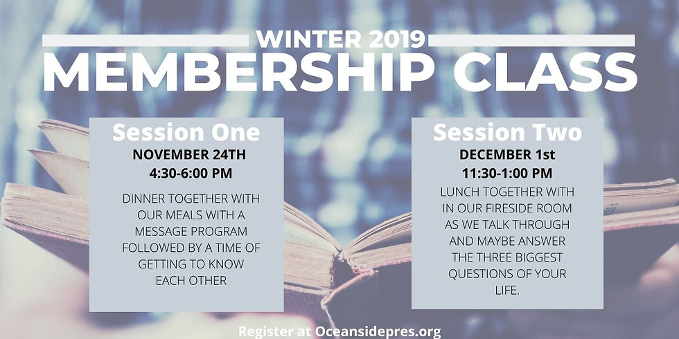 New Membership & Questions About Our Church