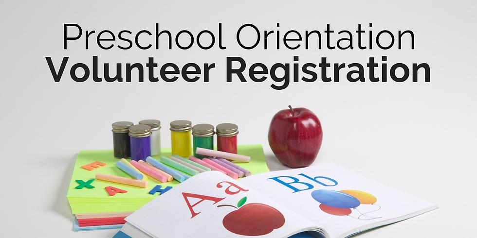 Preschool Orientation Volunteer Registration