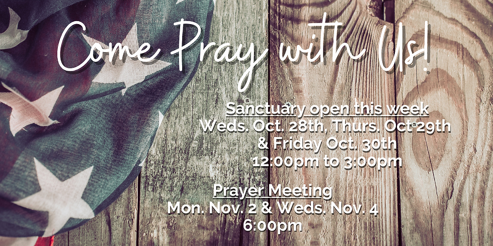 Come Pray With Us!