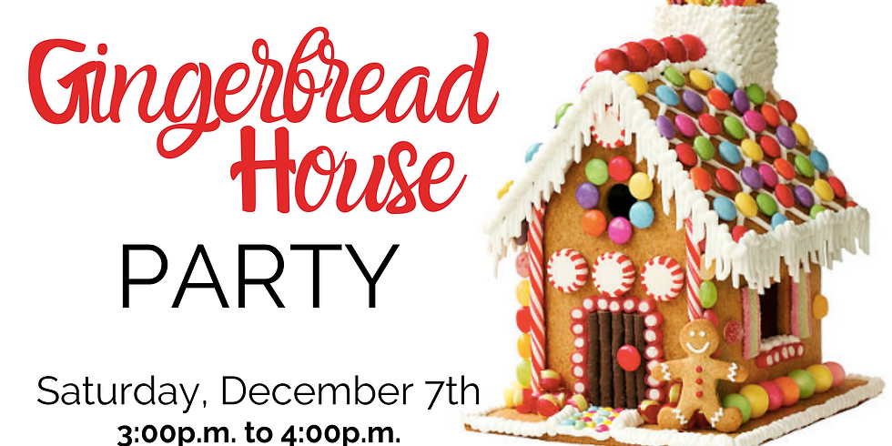 Gingerbread House Party + FREE PICTURES WITH SANTA.