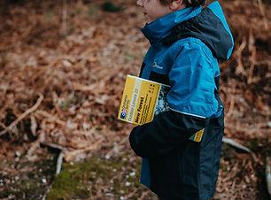 Preschool kid with book
