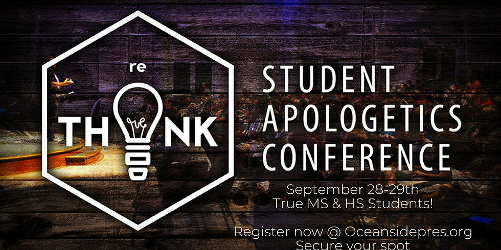 Student Leadership Conference... Stand to Reason September 28th-29th