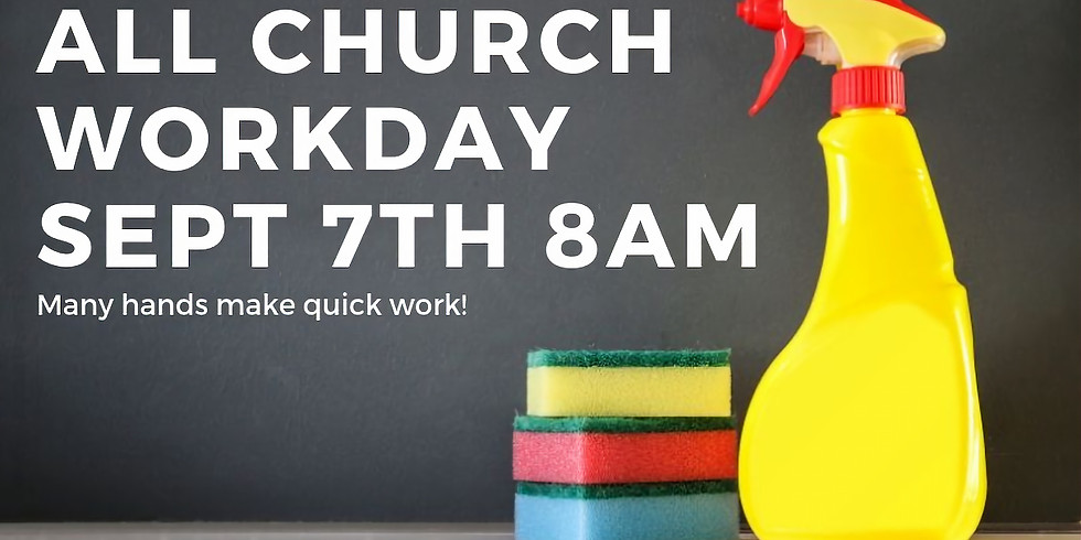 ALL CHURCH CLEAN UP October 5