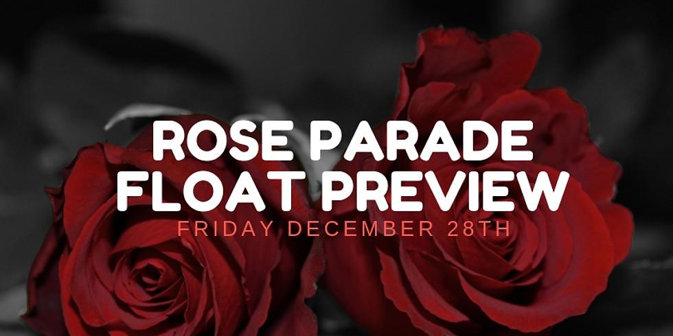 Rose Parade Float Preview Dec 28th