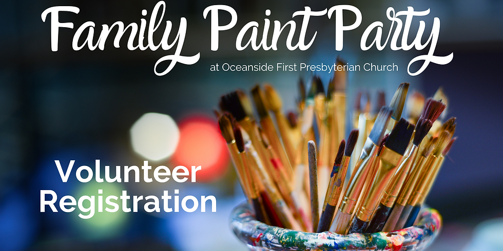 Family Paint Party Volunteer Registration