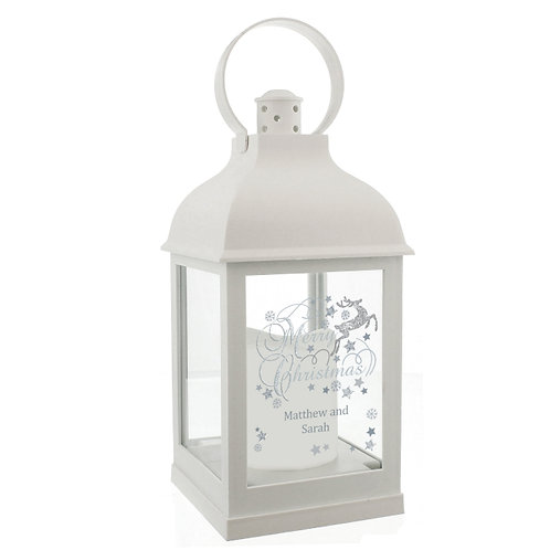 This stunning Silver Reindeer White Light Up Lantern is an ideal way of adding festive ambience to any home this Christmas
