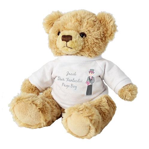 Personalised Fabulous Page Boy Message Bear
