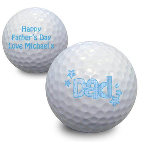 Personalised Dad Golf Ball-Add the Personalise Touch To Your Fathers Day Gift This Year