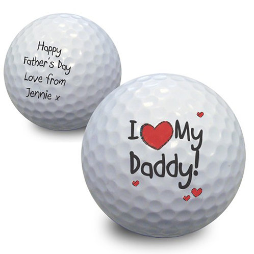 Personalised I Heart My Golf Ball-The Perfect Gift For Fathers Day RRP £5.99