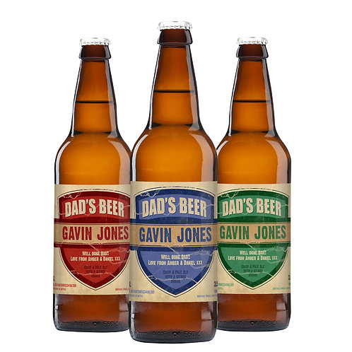 If you can't give your dad a brewery then give him a three-pack of quality,award-winning pale ale with his name on the bottle