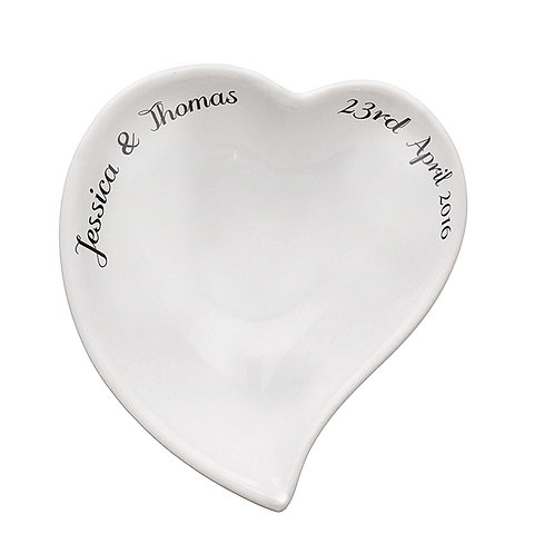 An elegant idea for a ring dish - a safe place to keep your rings or to be used on that special day!