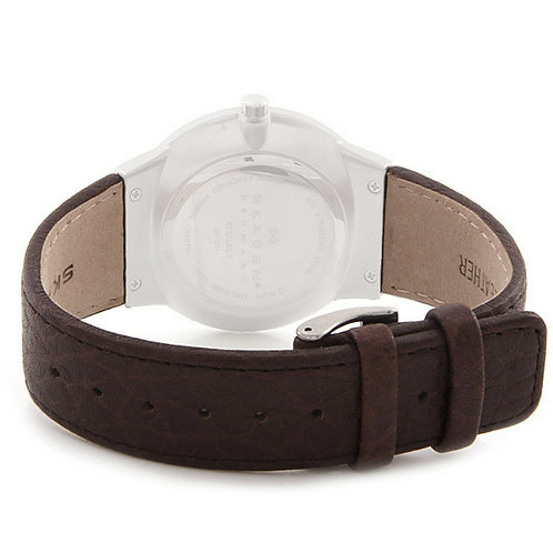 Skagen Brown Leather Strap 331XLSL1