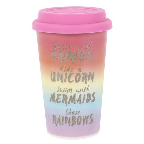 Fairies Unicorns Mermaids and Rainbows Travel Mug