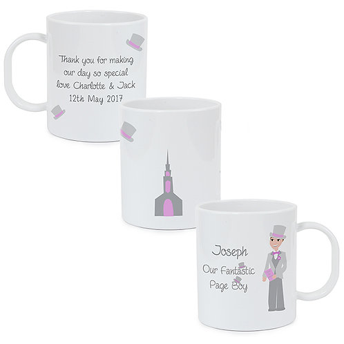 Personalised Fabulous Wedding Plastic Cup - page boy