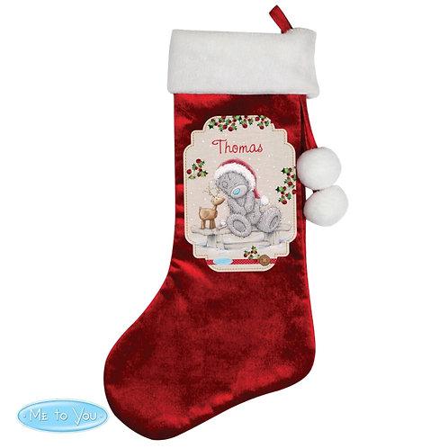 Personalised Me to You Reindeer Luxury Stocking
