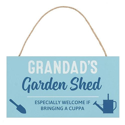 Grandad's Garden Shed Hanging Sign
