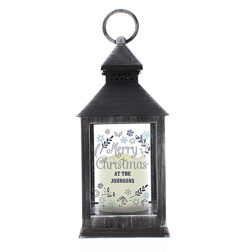 This stunning Christmas Frost Black Light Up Lantern is an ideal way of adding festive ambience to any home this Christmas