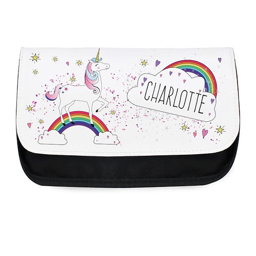This magical Unicorn Make Up Bag is ideal for keeping her make up collection in order, with it's bright and colourful design.