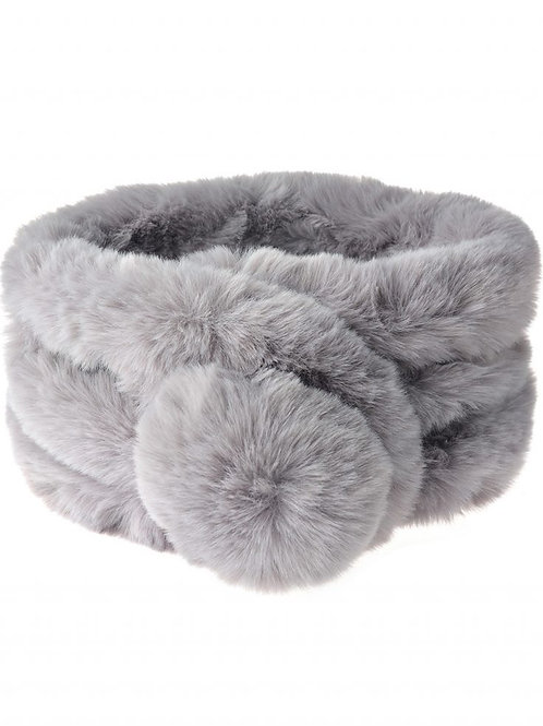 Light GreyUltra Soft Fur Neck Scarf