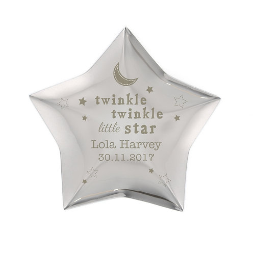 Our Personalised Twinkle Twinkle Star Trinket is an ideal place to store precious treasures