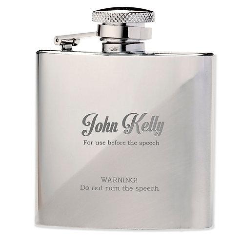Best Man The Speech Hip Flask