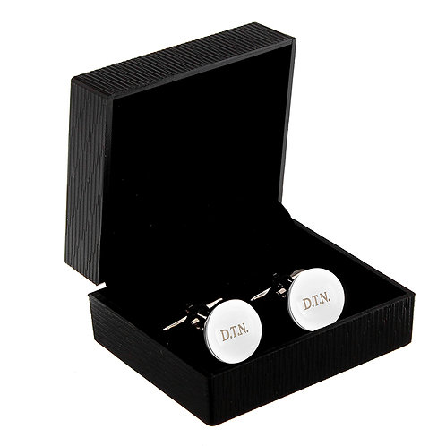 Personalised Round Cufflinks  These stylish silver finish cufflinks make the perfect gift for any occasion