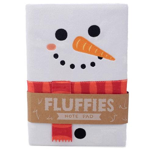 Christmas Snowman Fluffies Notepad/Notebook