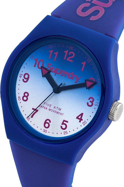 Superdry Urban Lazer BlueSilicone Strap Watch SYG198UU