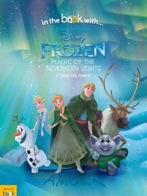 Personalised Frozen Northern Light Book