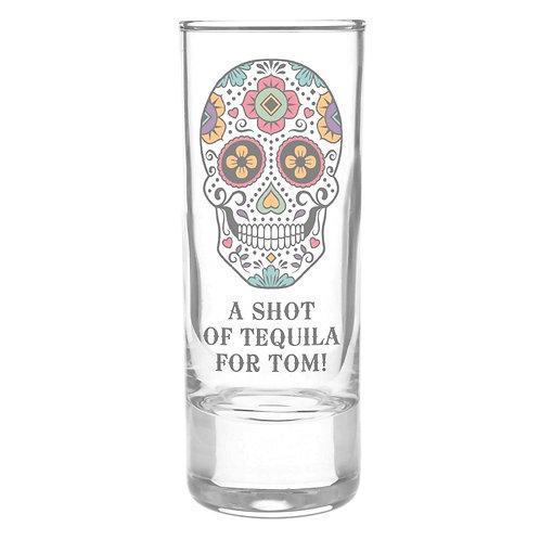 Personalised Sugar Skull Shot Glass