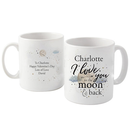 Personalised To the Moon & Infinity... Mug, New Personalised Gift Range For Spring 2017